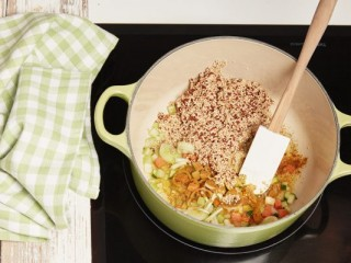 3 - Quinoa and vegetable soup